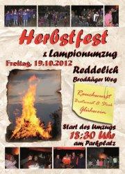 Plakat zum Lampionumzug und Herbstfest in Reddelich