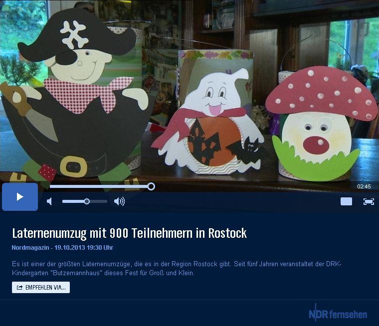 Startbildschirm des Laternen-Beitrags im Nodmagazin des NDR
